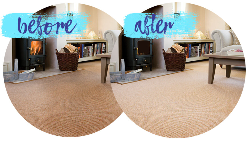Carpet cleaning before-after